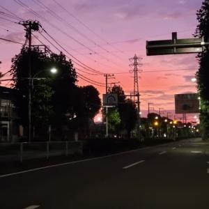 8.30府中市栄町の朝焼け