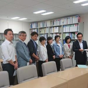 共産党都議団が「台風15号による島しょ地域の被害への対策を求める申し入れ」