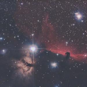 19/12/28 「令和元年 撮り納め式 極寒の三峰の陣」 part4「IC434 馬頭&NGC2024 燃木星雲」