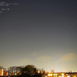 20/04/04  風があったけど、「国際宇宙ステーションISS」 と やっと撮れた「金星とM45の共演」。
