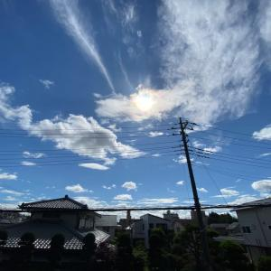 20/06/11  強風!雲多し!でも晴れ間あり! 今日の太陽黒点!!
