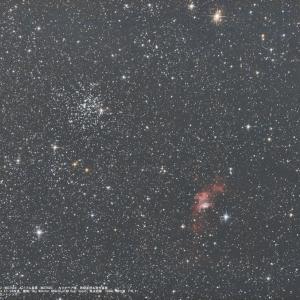 20/11/16  Go to Sky Watcherで霜月の陣! part2「どっちが主役? 散開星団M52(NGC7654)&散光星雲NGC7635」