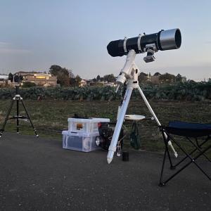 20/12/01  昨夜、お月様人生初の「半影月食」祭りに初参戦!でも…。 と 今日の太陽黒点!!