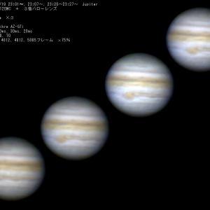 210/7/24  19日の晩に撮った木星です…。