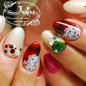 クリスマスカラー フラワーレース on Checkered☆