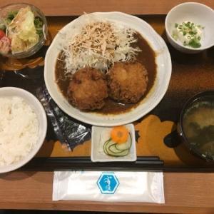 サラメシ・ゴロメンチ定食@鳥波多スリウォン本店