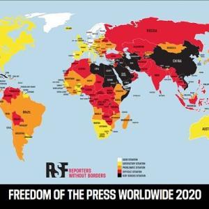 【報道の自由度ランキング2020】アジア最上位は韓国の42位、一方日本は・・・