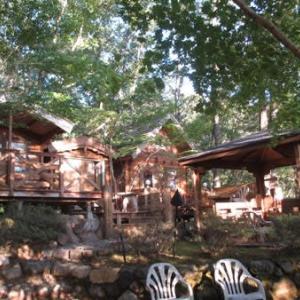 森の中でハロインパーティー・・貸別荘