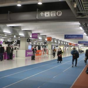 新型コロナウイルスのため 国際線の多くが欠航し 閑散とした成田空港国際線ターミナル