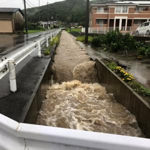 大雨洪水警報発令