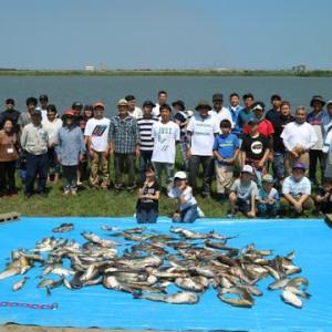 第2回アメリカナマズ釣り大会の様子