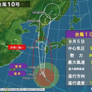 台風10号!の巻