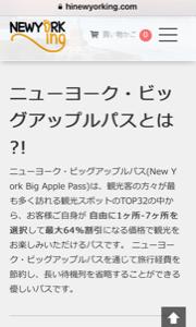 【ニューヨーク旅行】ビッグアップルパスをもう少し紹介しましょう