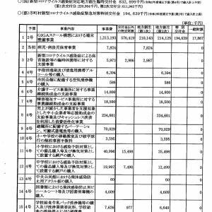 東大和市 10億3千万円のコロナ交付金の行方は?