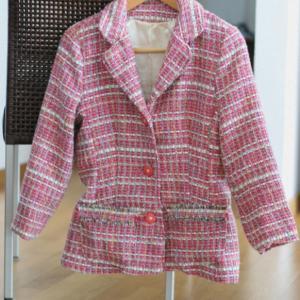 ピンク色のツイードジャケット完成☆