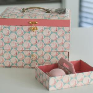 友人作☆ ビンテージ金具付き裁縫箱