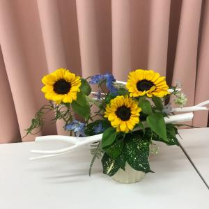 生花アレンジ 向日葵