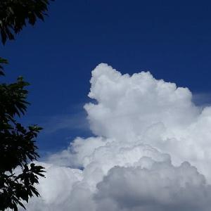 梅雨明けの空と雲
