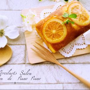 【今日のスイーツ】オレンジピール入りのパウンドケーキ
