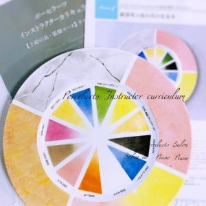 【上絵の具・装飾コース課題見本作品】上絵の具お色見本プレート。