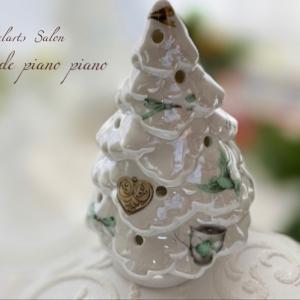 【季節レッスン】光沢あるラスター転写紙全面貼りのクリスマスツリー