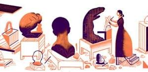 Googleのロゴ.. カミーユ・クローデル生誕 155 周年