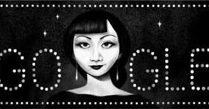 Googleのロゴ.. アンナ・メイ・ウォンを称えて