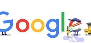 Googleのロゴ.. 衛生保護・管理者のみなさん、ありがとう。