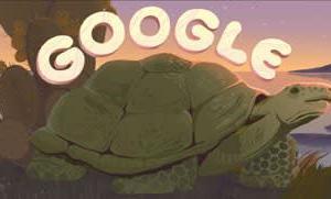 Googleのロゴ.. ガラパゴス諸島を称えて