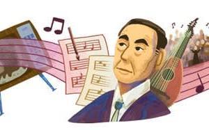 Googleのロゴ..伊福部昭 生誕107 周年
