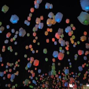 「万代島多目的広場」で10月10日に「新潟スカイランタンフェスティバル」