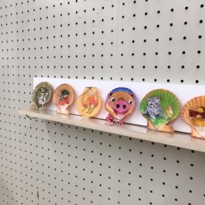 ひおうぎ貝の貝絵展示会が始まります!4月10日(月)より宇和島圏域伊予銀行各支店より