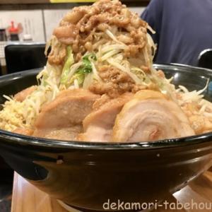 麺屋歩夢(相模原市)【デカ盛り】豚出汁まみれの純スープ二郎系ラーメン【麺増し】
