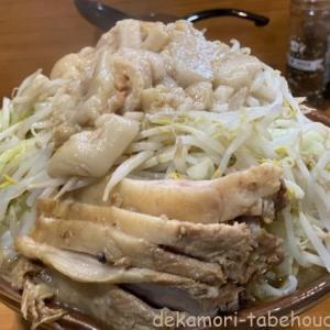 ラーメン二郎野猿街道店【デカ盛り】二郎ランキング個人的1位店の麺マシ豚マシ【大食い】