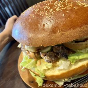 ペニンシュラバーガー【デカ盛り】大食いチャレンジ知多牛BIGバーガー
