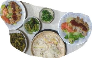 夕飯3日分 全部麺です
