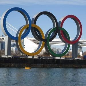 東京港に五輪マークが設置されました(2020)