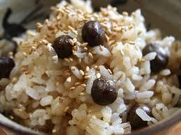 むかごと生姜の炊き込みご飯