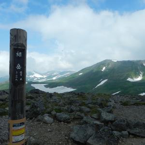 北海道二夜干しラーメン札幌味噌 in 大雪山緑岳(標高年2,020m)