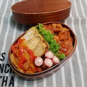 チキンのトマト煮弁当。