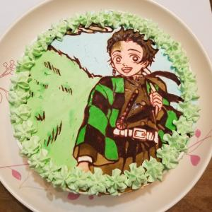 息子へ鬼滅のケーキ。