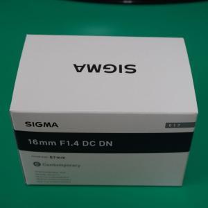 α6400にSIGMA 16mm F1.4のレンズを