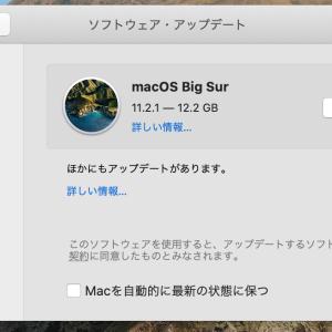 macOS Big Sur 11.2.1 MacBook Pro(13インチ Early 2015)