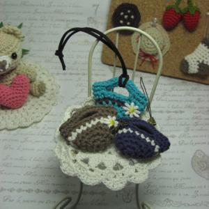 ミニスカートバッグを編みました♪