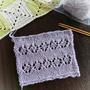 スワッチ編むのに半べそ 魔の3段め