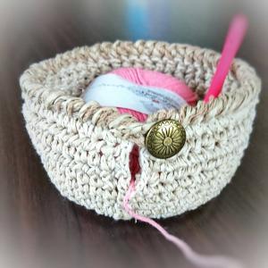 編んだヤーンボールの編み方 ひと工夫の件
