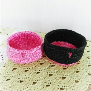 ヤーンボール完成  ~細編みの裏編みですっきり♪