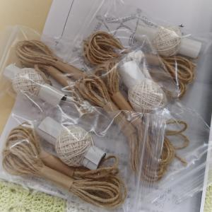 カルチャー麻ひもバッグ講座の準備~編みやすさを考えて♪