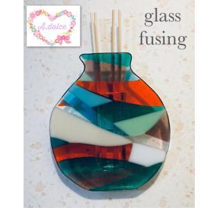 カラフルな花瓶♡ガラスフュージング