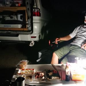 おじさんチームの遠征、富山の川に2泊目